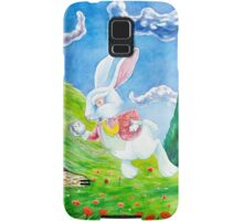 Oh dear! I shall be late! (Alice and the White Rabbit) Samsung Galaxy Case/Skin
