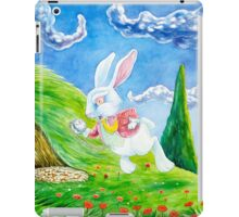 Oh dear! I shall be late! (Alice and the White Rabbit) iPad Case/Skin