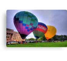 UP 3 ! - Balloonfest,Canberra Australia - The HDR Experience Canvas Print