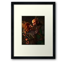 Axes and Knives Framed Print