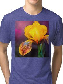 Yellow Iris Tri-blend T-Shirt