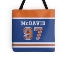 Oilers Connor McDavid #97 Tote Bag