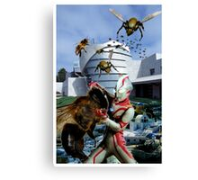 Ultraman vs. the killer bees Canvas Print