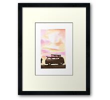 sunset over my beautiful camper Framed Print