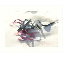 Sandy Thongs Art Print