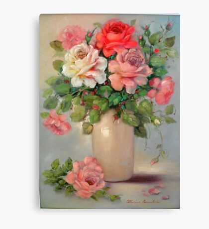 Multi Colored Roses Canvas Print