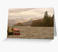 Last mountain snows....(Lake windermere).... Greeting Card