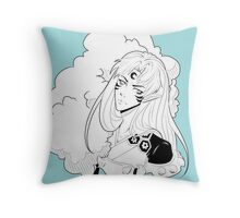 Sesshomaru- lost in the clouds Throw Pillow