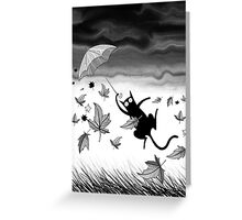 Umbrella by Andrew Hitchen Greeting Card