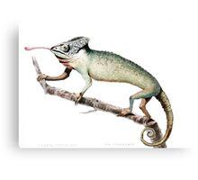 Chameleon Vintage Art Canvas Print