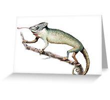 Chameleon Vintage Art Greeting Card