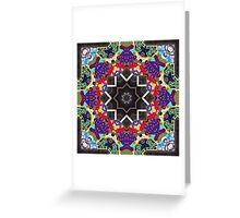 Graffito kaleidoscope #28 Greeting Card