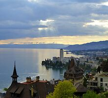 Montreux Evening by Charmiene Maxwell-Batten