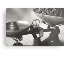Weighing up Coffee Metal Print