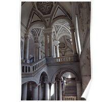 Lo Scalone d'ingresso del Monastero dei Benedettini, Catania Poster