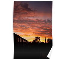 Back Alley Sunset Poster