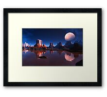 Third Moon of Mars Framed Print