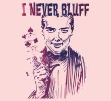 Poker - I never bluff - purple One Piece - Short Sleeve
