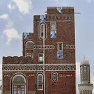 Symbols on the wall (1) - Sana'a house by Marjolein Katsma