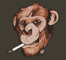 Smoking Monkey by jobe