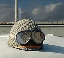 Helmet on World War 2 US Army truck by buttonpresser