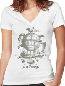 Freethinker Women's Fitted V-Neck T-Shirt