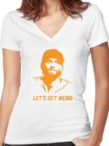 """Let's Get Weird"" - Hunter Pence Women's Fitted V-Neck T-Shirt"