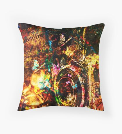 Beautifully Grungy Throw Pillow