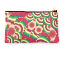 Abstract circular gradients Studio Pouch