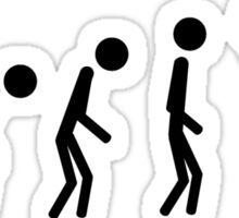 Evolution Of Man (Basslover) Sticker