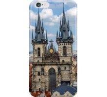 Teyn gothic cathedral in Prague iPhone Case/Skin
