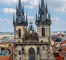 Teyn gothic cathedral in Prague by ibphotos