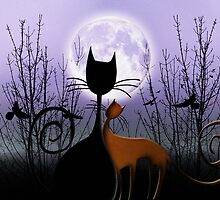 WinterMoon&CatsInLove by RosaCobos