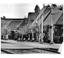 Kalamazoo Train Station - Black and White Poster