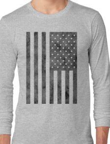US Flag Grunge Style Long Sleeve T-Shirt