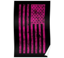 US Flag Grunge Style Poster