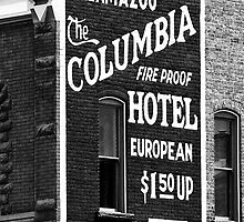 Downtown Kalamazoo - Columbia Hotel Sign by PixelPerfectPho