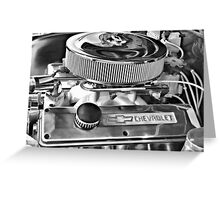Chevy Engine Greeting Card