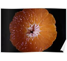 Juicy Orange - cross section Poster