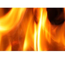 Flames in the Hearth Photographic Print