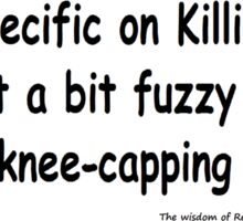 The Rev Book Killing / Knee-capping Sticker