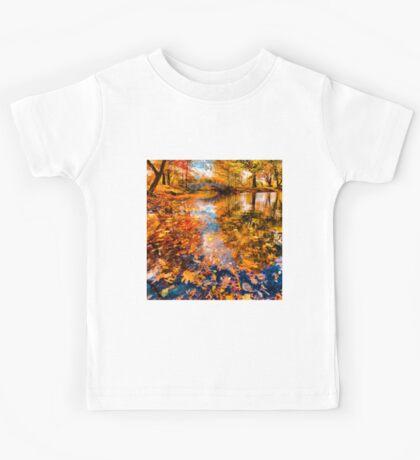Boston Fall Foliage Reflection Kids Tee