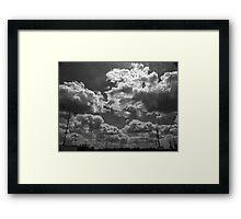 B+W Clouds-2 Framed Print