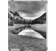 Spring meets winter in the Alps (B&W) iPad Case/Skin