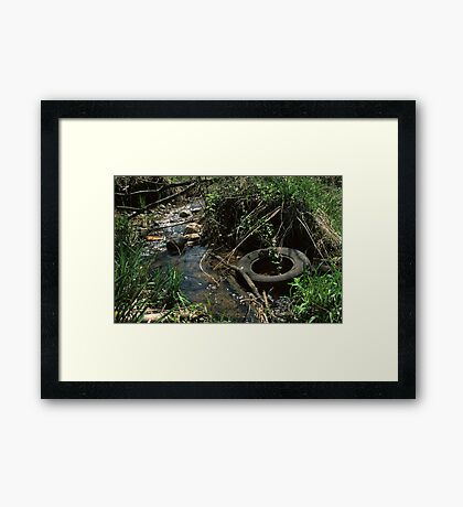 Tired Creek Framed Print