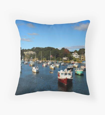 PERKINS COVE IN SEPTEMBER Throw Pillow