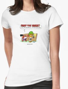 The Carrotty Kid: Paint the Fence Womens Fitted T-Shirt