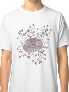 Sleeping in a ring of Peacock Feathers Classic T-Shirt