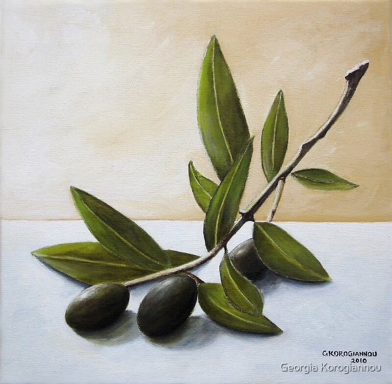 """Olive Branch"""" Greeting Cards & Postcards by Gogo Korogiannou ..."""
