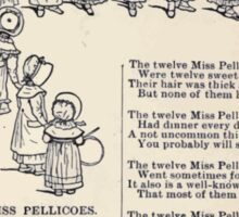 Miniature Under the Window Pictures & Rhymes for Children Kate Greenaway 1880 0017 The Miss Pellicoes Sticker